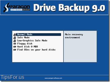 Paragon Drive Backup Express - Recovery Environment 1