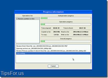 Paragon Drive Backup Express - Restoring Disk