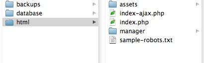 Proper web site folder structure