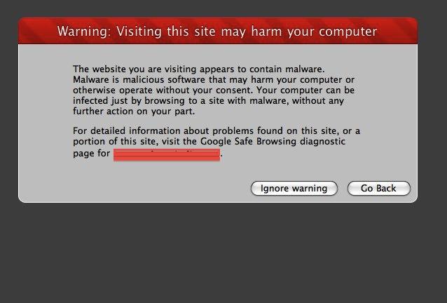 Suspected Malware Site!