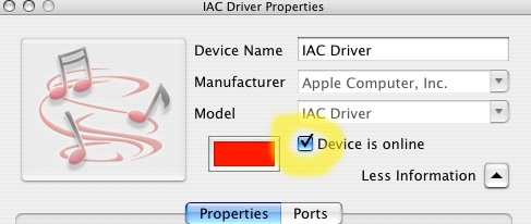 OS X\'s Inter-Application MIDI Driver Settings
