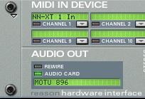 Reason in Audio Card Mode
