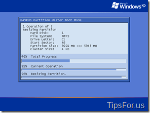 Easeus Partition Manager - Partitioning