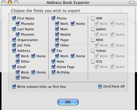 OS X Address Book Exporter