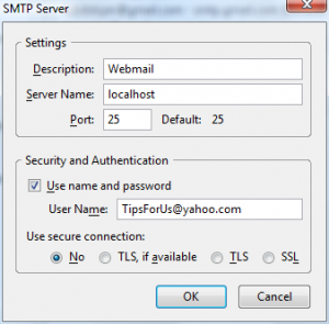 how to get localhost smtp working