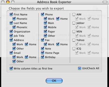 OS X Address Book Exporter