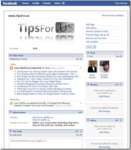 TipsForUs - Facebook