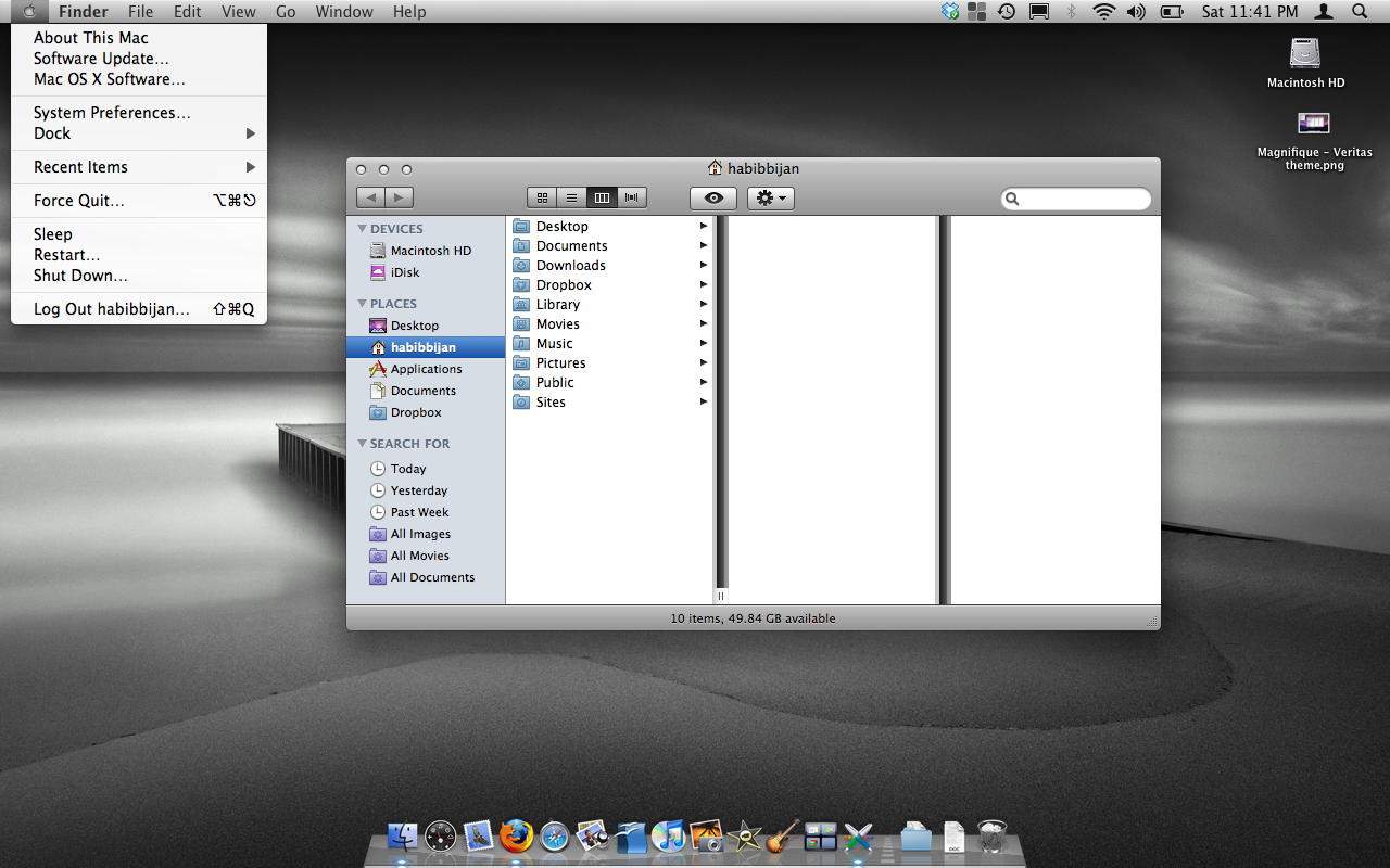 Skin Your Mac OS X Leopard with Magnifique | TipsFor us