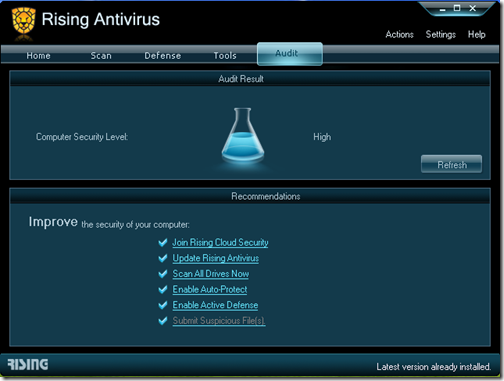 Rising Antivirus - Audit