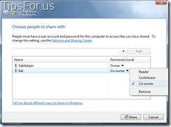 Vista - Share Folder