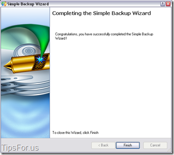 Paragon Drive Backup Express - Backup Complete