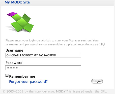 If you have access to your MySQL database, you can still log into the MODx manager.