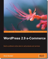 Book cover - WordPress 2.9 e-Commerce