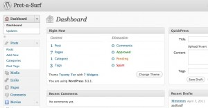 WordPress Manager dashboard